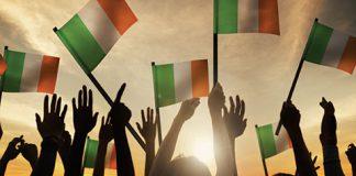 Irish Flag Waving