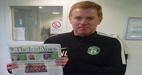 Neil Lennon with The Irish Voice