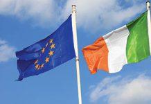 Ireland EU flags